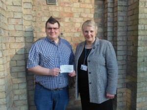 Rotoract Huntingdon present cheque to dreamdrops